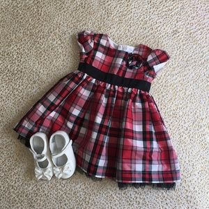 Baby Girl Red Party Dress and Shoes